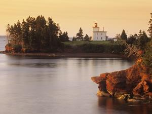 Blockhouse Lighthouse, Rocky Point, Prince Edward Island, Canada by Barrett & Mackay