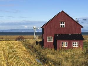 Red Barn, Cacouna, Quebec, Canada by Barrett & Mackay