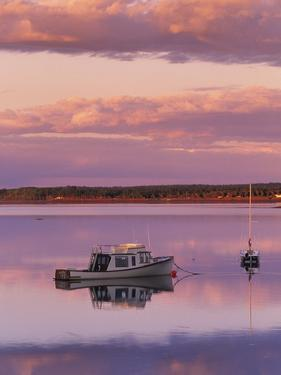 Sunset West River Causeway, West River, Prince Edward Island, Canada by Barrett & Mackay