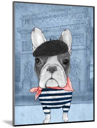 French Bulldog with Arc de Triomphe by Barruf