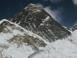 A Close-up of Mount Everest and Lhotse by Barry Bishop