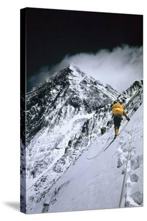 Climbers, 25,000 Feet Up, Push on Toward the Summit of Mount Everest by Barry Bishop
