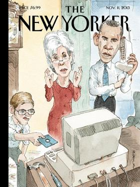 Reboot - The New Yorker Cover, November 11, 2013 by Barry Blitt