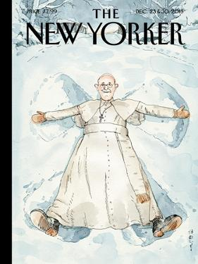 Snow Angel - The New Yorker Cover, December 23, 2013 by Barry Blitt