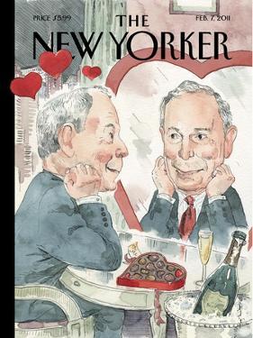 The New Yorker Cover - February 7, 2011 by Barry Blitt