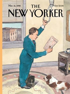 The New Yorker Cover - March 16, 1998 by Barry Blitt
