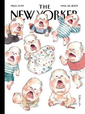 The New Yorker Cover - March 23, 2009 by Barry Blitt