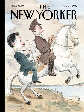 The New Yorker Cover - October 1, 2012 by Barry Blitt