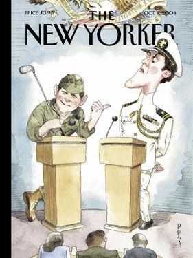 The New Yorker Cover - October 11, 2004 by Barry Blitt