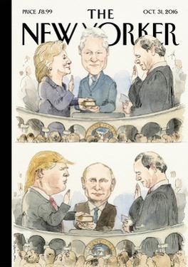 The New Yorker Cover - October 31, 2016 by Barry Blitt