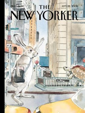 The New Yorker Cover - September 22, 2008 by Barry Blitt