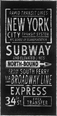 Rapid Transport Lines New York by Barry Goodman