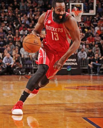 Houston Rockets v Phoenix Suns by Barry Gossage