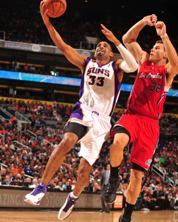 Los Angeles Clippers v Phoenix Suns: Grant Hill and Blake Griffin