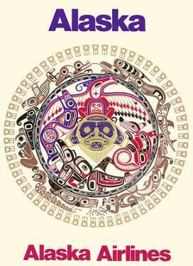 Power of the Shining Heavens - Northwest Coast Haida Indian Tribal Art - Alaska Airlines by Barry Harem
