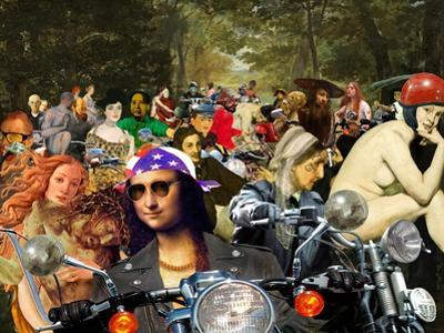 Bikers sur l'herbe by Barry Kite