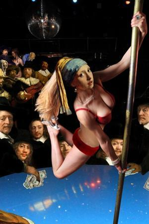Girl with Pearl Earring and Pole by Barry Kite