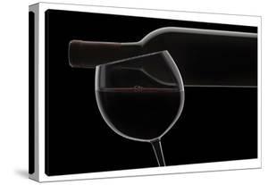 Red Wine Silhouette by Barry Seidman