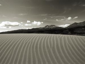 Rows of Sand Dunes Stretch Toward the Mountains in Alaska by Barry Tessman
