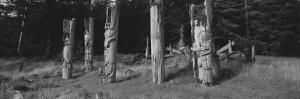 Totem Poles Stand Near an Abandoned Haida Village by Barry Tessman