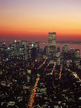 Aerial of Midtown NYC at Dusk, NY by Barry Winiker