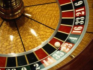 Close-up of a Roulette Wheel by Barry Winiker