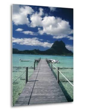 Scenic Dock off Motu Tapu, Bora Bora by Barry Winiker