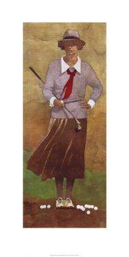Vintage Woman Golfer by Bart Forbes