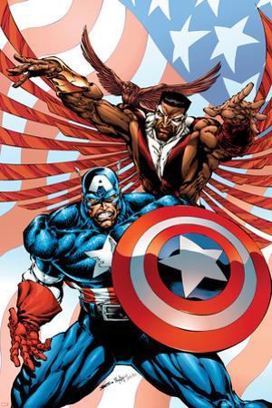 Captain America And The Falcon No.2 Cover: Captain America and Falcon