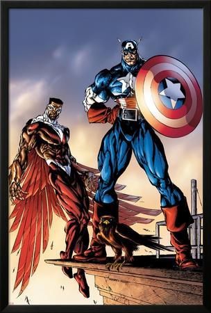 Captain America And The Falcon No.3 Cover: Captain America and Falcon