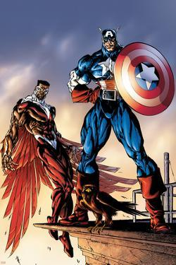Captain America And The Falcon No.3 Cover: Captain America and Falcon by Bart Sears