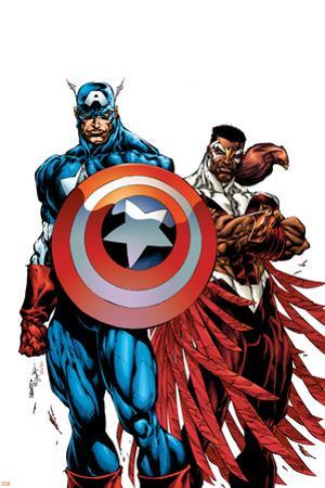 Captain America & The Falcon No.1 Cover: Captain America and Falcon