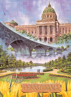 Visit Pennsylvania - Harrisburg, PA - State Capitol, Rockville Bridge, Italian Lake Park by Bart Sloane