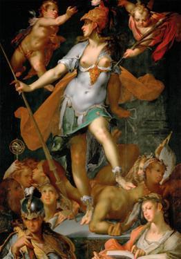 Minerva Victorious Over Ignorance by Bartholomeus Spranger