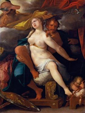 Venus and Mars Warned by Mercury, Ca 1586 by Bartholomeus Spranger