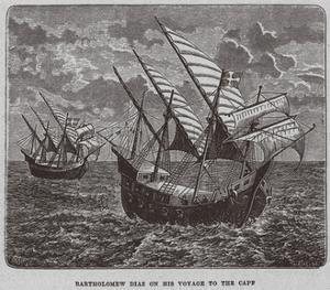Bartholomew Diaz on His Voyage to South Africa, 1878