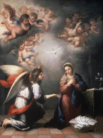 Annunciation by Bartolome Esteban Murillo