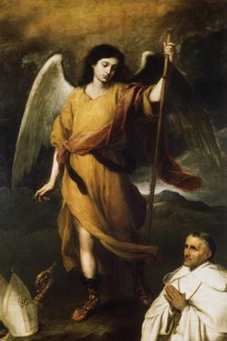 Archangel Raphael with Bishop Domonte, 17th Century by Bartolomé Esteban Murillo
