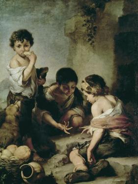 Boys Playing Dice, circa 1670-75 by Bartolome Esteban Murillo