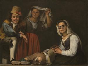 Four Figures on a Step by Bartolomé Estebàn Murillo
