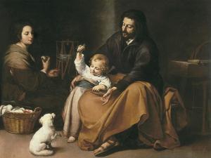 Holy Family with the Little Bird by Bartolome Esteban Murillo