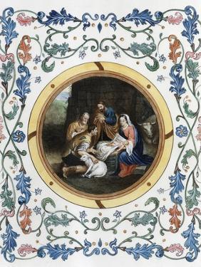 Nativity with Illuminated Border by Bartolome Esteban Murillo