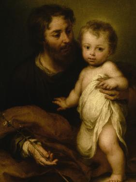Saint Joseph with Jesus by Bartolome Esteban Murillo