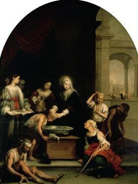 St. Elizabeth of Hungary Tending the Sick and Leprous, circa 1671-74 by Bartolome Esteban Murillo