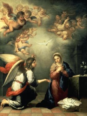 The Annunciation, 1655-65 by Bartolomé Estéban Murillo