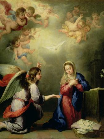 The Annunciation by Bartolome Esteban Murillo