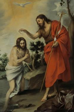 The Baptism of Christ, 1655 by Bartolomé Estebàn Murillo
