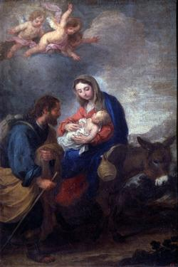 The Flight into Egypt, 17th Century by Bartolomé Esteban Murillo