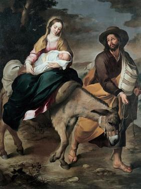 The Flight into Egypt, Between 1645 and 1649 by Bartolomé Estebàn Murillo