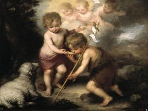 The Holy Children with a Shell, 1670-1675 by Bartolomé Esteban Murillo
